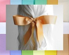 Etsy :: Your place to buy and sell all things handmade Hair Ribbons, How To Make Ribbon, Big Bows, Grosgrain Ribbon, Hair Ties, Girl Hairstyles, All Things, Boho Chic, Women Jewelry