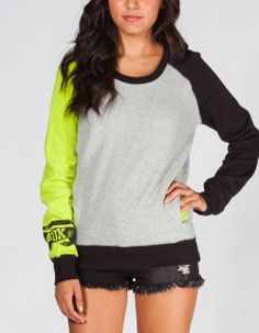 Fox Prestigious Womens Sweatshirt Kiwi In Sizes from Tilly's. Saved to Things I really want as gifts! Puma Sweatshirts, Hoodies, Fox Racing Clothing, Country Outfits, Cute Outfits, Fashion Outfits, Fasion, Clothes For Women, My Style