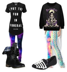 """""""nu goth partner outfit for me and my girl"""" by wilczekalyssa on Polyvore featuring Forever Link, J. Valentine, Killstar and Iron Fist Nu Goth, Iron Fist, My Girl, Thats Not My, Link, Polyvore, Outfits, Image, Fashion"""