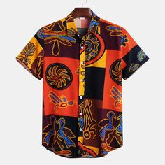 Buy best mens shirts online, NewChic offer all kind of mens designer shirts like casual mens shirts,mens dress shirts,polo mens shirts and mens designer shirts at wholesale price. Loose Jeans, Loose Shirts, Printed Shirts, Men's Fashion, African Fashion, African Style, African Tops, Fashion Shirts, Urban Fashion