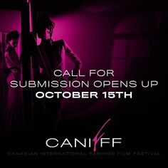 Big Announcement this Monday  We are opening our 2017 Submissions on October 15/2016  NEW THIS CANIFFF ADDITION;  We are also accepting  this year feature length Fashion Films And Music Videos.  Spread the word ....