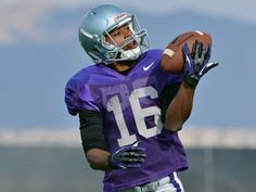 The official photo galleries for the Kansas State University Wildcats Kansas State University, Kansas State Wildcats, Tyler Lockett, Photo Center, Seattle Seahawks, Football Helmets, Photo Galleries, Purple