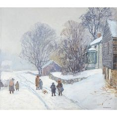 View The snow storm by Edward Willis Redfield on artnet. Browse upcoming and past auction lots by Edward Willis Redfield. Painting Snow, Winter Painting, Winter Art, Artist Painting, Figure Painting, American Impressionism, Art Folder, Bucks County, Sketch Ideas