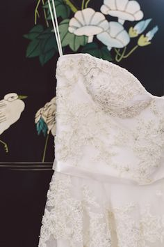 White #wedding dress with beaded detailing | Joel Bedford Photography | see more on: http://burnettsboards.com/2014/04/sensual-boudoir-inspiration-shoot/