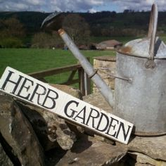 Herb Garden, vintage style wooden garden sign by Barn Studio Signs for From the Wilde