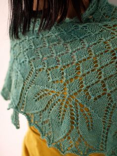 Love the blue and yellow.....gorgeous design from Ysolda and gorgeous knit by Sarah.