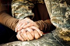 Such a great picture of the ring! Love that you can see his ACU's too! #love #ring #engagement #usa #army