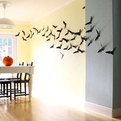 Cut these creepy creatures out of black card stock and tape them to the wall or house.