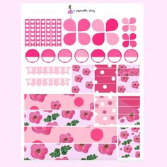 A Tale of InspiredBlush Deluxe Kit // Printable Planner Stickers (Orig – A Paperella Story