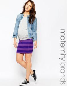 Minifalda de rayas Bianca de Ripe Maternity
