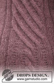 Bibliothèque de points DROPS: Points texturés Knitting Stitches, Knitting Patterns Free, Knit Patterns, Textures Patterns, Free Knitting, Free Pattern, Drops Design, Magazine Drops, Pulls