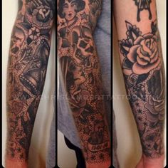 traditional black and grey tattoo sleeve - Google Search