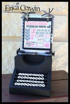 Artisan Award 2013 Entry- Vintage Typewriter Mini MDS ALbum