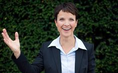 """Former chemist and entrepreneur seeks to transform Alternative for Germany   (AfD) from party of protest to partner in power. - Her party was condemned by Der Spiegel as a haven for """"right-wing extremists and anti-refugee, Islamophobic rabble-rousers"""" but, much like Donald Trump's populist provocations in America, the remarks apparently did Mrs Petry and AfD no harm at the polls."""