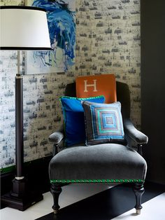 interior design in charlotte nc - Dining oom Interior Design harlotte N pops of blue with gold ...