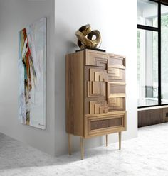 Wall Panel Molding, Spanish Design, Modern Cabinets, Unique Furniture, Chest Of Drawers, Designer Collection, Consoles, Wood Projects, Tables