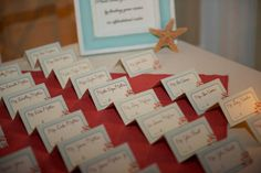 Cute, coral name cards