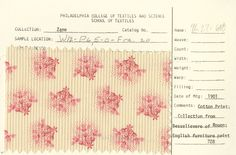 Floral print on cotton. Besselievere of Rouen. English. 1901.