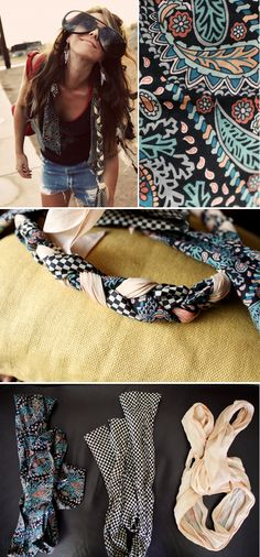 DIY - Three scarves into one! Great and easy idea!