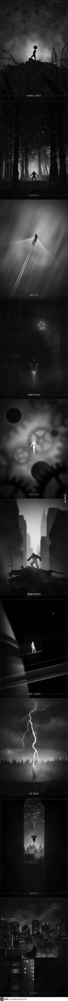 Superheroes Poster Conceptos