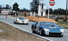 Dan Gurney and Jerry Grant drove this Ford GT 40 Mk II at Sebring in Sports Car Racing, Road Racing, Sport Cars, Auto Racing, Le Mans, Sebring Raceway, Dan Gurney, Classic Race Cars, Mario Andretti