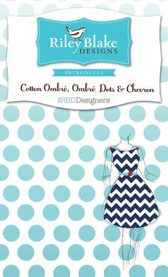 Riley Blake makes Chevron fabric! Love!!!