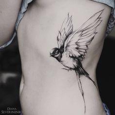 Swallow Tattoo by Diana Severinenko Piercings, Piercing Tattoo, Arm Tattoo, Tattoo Bird, Black Tattoo Art, Black Tattoos, New Tattoos, Body Art Tattoos, Tatoos