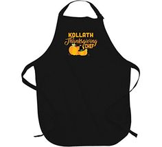 Kollath Thanksgiving Chef Last name Group Family Cooking Team Apron L Black