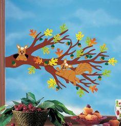 Risultati immagini per fensterbilder herbst Credit Card Application, Hobbies For Kids, Halloween Signs, Guest Book Alternatives, Baby Shower Printables, Autumn, Fall, Tinkerbell, Art Lessons