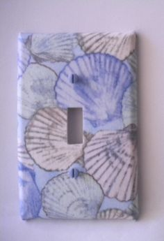 Items similar to Beachy Sea Shells Ocean Theme Light Switch Plate Single Handmade Cover on Etsy Ocean Themes, Outlet Covers, Light Switch Plates, Sea Shells, Unique Jewelry, Handmade Gifts, Vintage, Etsy, Room