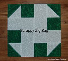 Christmas Sampler Quilt #19 - Scrappy Zig Zag Block Tutorial on Sew Bitter Sweet Designs at http://blog.sewbittersweetdesigns.com/?p=977