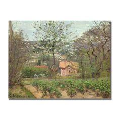 The Cottage by Camille Pissarro Painting Print on Canvas