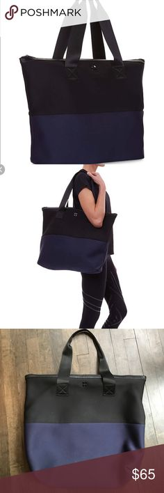 Sweaty Betty all sport tote This is an amazing bag. I have two! Very durable neoprene fabric. Inside pocket. Zip closure! Great for a weekend bag or gym bag. Fits everything. Like new. Very sturdy! No issues or visible wear. Will take best offer. Sweaty Betty Bags Totes
