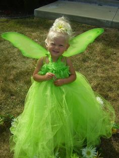 Tinkerbell Tutu Dress  Im sure Ill have a little granddaughter some day! This is darling!