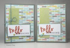 cards by Karen Day using CTMH Zoe paper