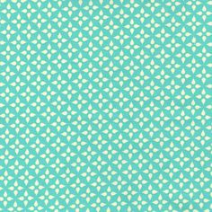 Star Flower in Aqua  Collection: Washi   Designer: Rashida Coleman-Hale   Manufacturer: Timeless Treasures | 1/2 yd I think. Washed, InTown, 2012 - some hexied