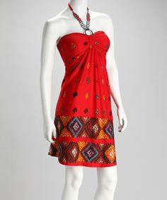 Loving this Red Halter Dress on #zulily! #zulilyfinds