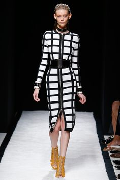 Balmain has a way of restraining their garments. Love these caged in looks. Spring 2015 Ready-to-Wear - Balmain