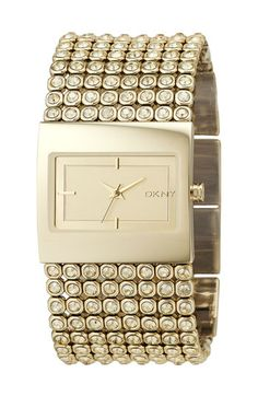 """Ok...probably too """"bling"""" for me but I still love this! DKNY Mesh Crystal Bracelet Watch."""