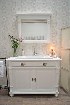 bellemaison gro er landhaus waschtisch mit spiegelaufsatz. Black Bedroom Furniture Sets. Home Design Ideas