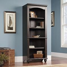 "72"" Cottage Style Bookcase in Antique Painted Finish"
