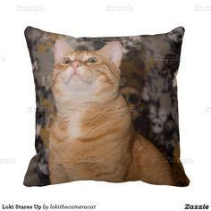 Loki Stares Up Throw Pillows