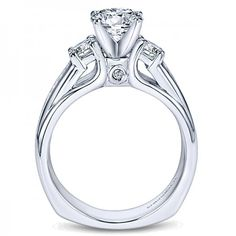 Contemporary Three Stone Engagement Ring Setting ER4194W44JJ