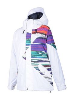 Volcom Women's Archers Insulated Snowboard Jacket in White - Wmn's Large NWT #Volcom