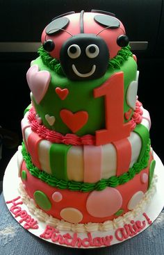 Amazing Cake for a Girl's Birthday... I'm thinking a slightly older age than 1 though.