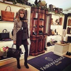 The Windsor Handbag Chocolate, hand made using exceptional quality Italian leathers, available in leather-suede combinations. Fairfax And Favor, Italian Leather, Windsor, Chocolate, Clothes, Outfits, Clothing, Kleding, Chocolates