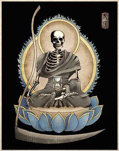 Gothic Macabre Art Print The Grim Reaper Memento Mori $14 from TigerHouseArt