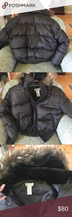 Baby Phat Snow Jacket Brown baby phat snow jacket - super warm!!! Detachable arms to make a vest, also detachable hood ! You can create many different looks 😃. Back of Jacket has stitched logo , so cute ! Small wear on INSIDE bottom of jacket (as pictured in last photo), so no one would see. Otherwise Jacket is MINT condition. The warmth this jacket provides is awesome. 15% off bundles 2+ in my closet. Suggested user, so shop with confidence ! Happy poshing ! 🤗🌷 Baby Phat Jackets & Coats…
