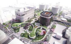Imagen 1 de 6 de la galería de Mecanoo revela planes para estación 'verde' de trenes en Taiwán. Fotografía de Mecanoo