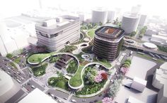 Image 1 of 6 from gallery of Mecanoo Reveals Plans for Massive Green Train Station in Taiwan. Photograph by Mecanoo